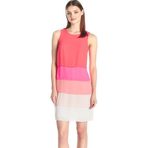 $149 Vince Camuto Pink Tiered Dress 8